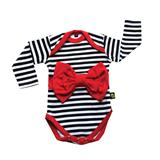 Rockabye Baby Red Bow Stripe Long Sleeve Bodysuit 6-12m