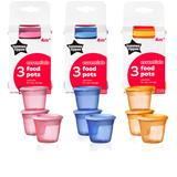 Tommee Tippee Essentials Basic Food Pots 3Pk
