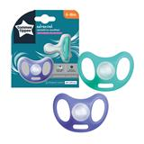 Tommee Tippee Sensitive Soothers 6-18m x2