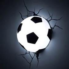 3D Football Wall Light