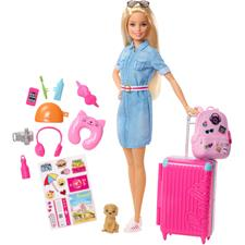 Barbie Travel Doll and Travel Accessories