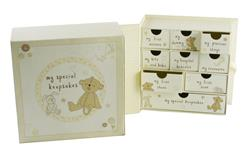 Button Corner Paperwrap Keepsake Box