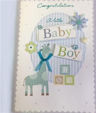 Congratulations Baby Boy Greeting Card
