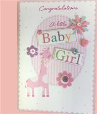 Congratulations Baby Girl Greeting Card