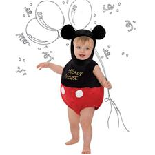 Disney Mickey Mouse Tabard with Hat 3-6m