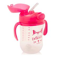 Dr Brown's Baby Weighted Straw Cup Pink 270ml