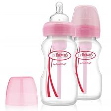 Dr Brown's Options Bottle Pink 270ml 2Pk