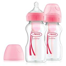 Dr Brown's Options+ Bottle Pink 270ml 2Pk