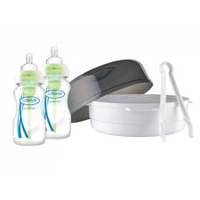 Dr Brown's Options Microwave Steriliser with 2 x 270ml Bottles