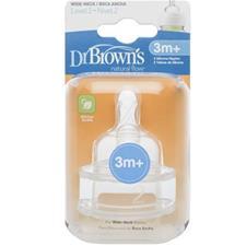 Dr. Brown's Options Teat 3m Plus 2Pk