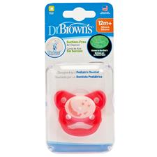 Dr Brown's PreVent Glow Soother Pink 12m Plus