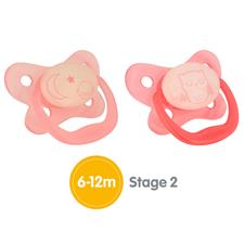 Dr Brown's PreVent Glow Soother Pink 6-12m