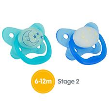 Dr Brown's PreVent Glow Soother Sky 6-12m