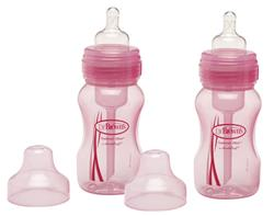 Dr Brown's Special Edition 240ml Wide Neck Twin Pack Bottle - Pink