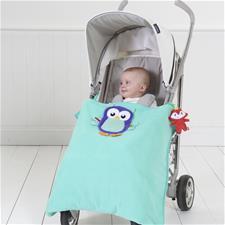 Fisher-Price Woodland Owl Stroller Blanket