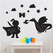 FunToSee Chalkboard Room Kit Magic Dragon Kingdom
