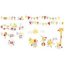 FunToSee Nursery Décor Kit Jolly Jamboree