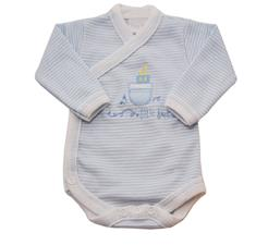 Gorgeous Gifts Crossover Little Boats Bodysuit - 8-12lbs