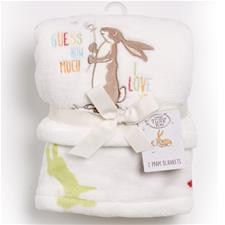 Guess How Much I Love You Boa Pram Blanket 2Pk