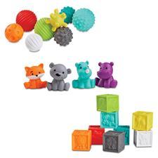 Infantino Sensory Balls, Blocks & Buddies Set