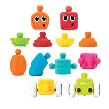 Infantino Sensory Plug and Roll Multi Blocks Set