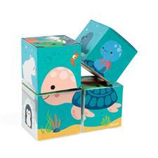 Janod Bath Cubes 4Pk