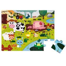 Janod Tactile Puzzle Farm Animals