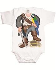 Just Add a Kid 'Pirate Parrot Boy' Bodysuit - 6-12mths