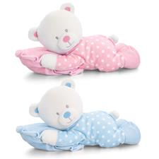 Keel Toys Baby Teddy Bear on Pillow Large 30cm