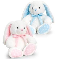 Keel Toys Cream and Pastel Rabbits 25cm