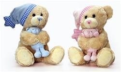 Keel Toys Cuddles Musical Bear with Teddy 25cm - PINK