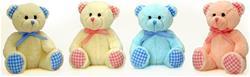 Keel Toys Nursery Gingham Bear 4 Asst 15cm