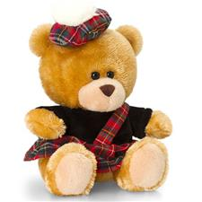 Keel Toys Pippin Scottish Piper Bear 14cm