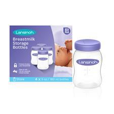 Lansinoh Plastic Milk Storage Bottles 4Pk