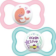 MAM Air Soother Pink 6m+ 2Pk