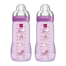 MAM Baby Bottle 330ml Pink 2Pk