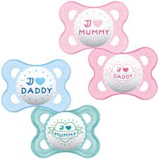 MAM Style (I Love) Soother 0m+ 2Pk