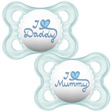 MAM Style Soother Blue 0m+ 2Pk