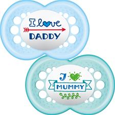 MAM Style Soother Blue 6m+ 2Pk