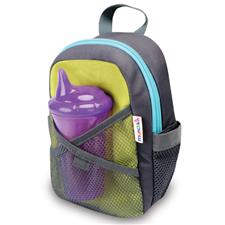 Munchkin By My Side Safety Harness Backpack Grey Blue