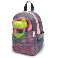 Munchkin By My Side Safety Harness Backpack Grey Pink
