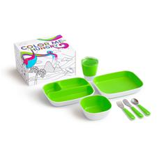 Munchkin Colour Me Hungry Dinning Set Green 7Pc