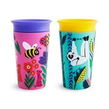 Munchkin Miracle 360 Sippy Cup WildLove Bee Lemur 266ml 2Pk