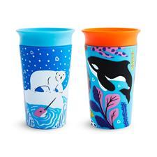 Munchkin Miracle 360 Sippy Cup WildLove Orca Polar 266ml 2Pk
