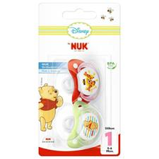 NUK Winnie The Pooh Soothers 0-6m 2Pk