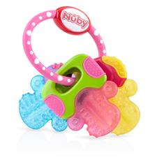 Nuby Icy Bites Keys Teether Pink