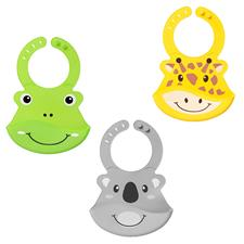 Nuby Roly Poly Animal Face Bib