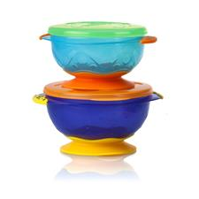 Nuby Stackable Suction Bowls 2Pk