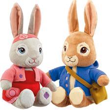 Peter Rabbit and Lily Bobtail T.V. Talking Assortment 24cm