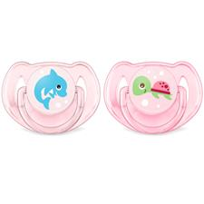 Philips Avent Classic Soothers Animal Pink 6-18m 2Pk